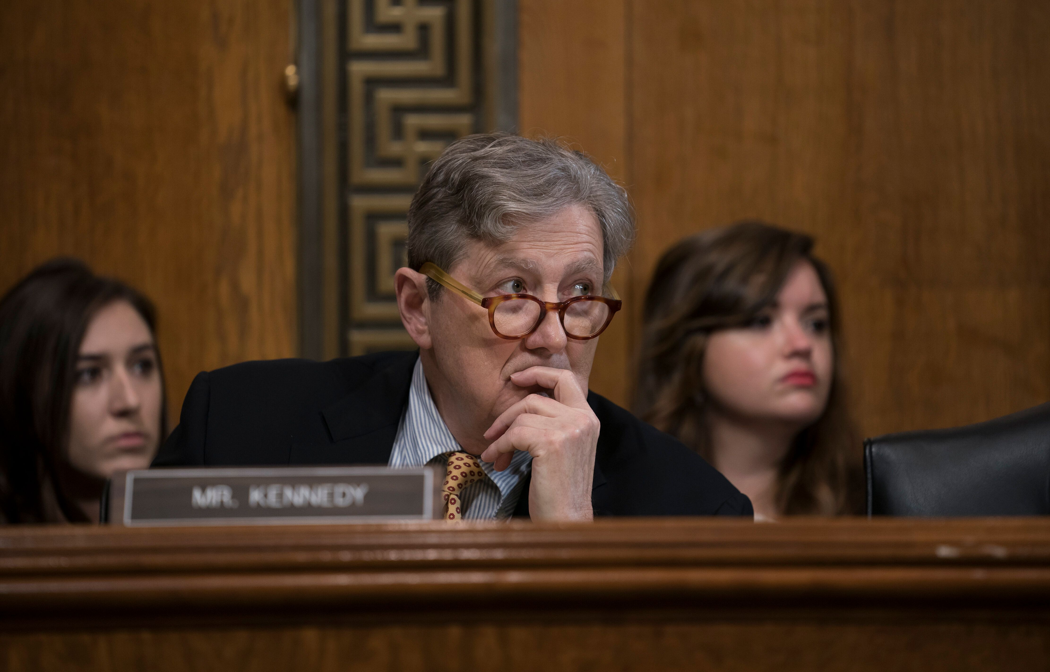 Sen. John Kennedy was not amused by Steven Menashi's refusal to answer his questions.
