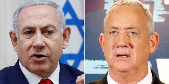 During last week's unpreceded second election within a year, neither Gantz, right, nor Netanyahu appeared to secure the support of a majority of 61 members of the 120-seat parliament.