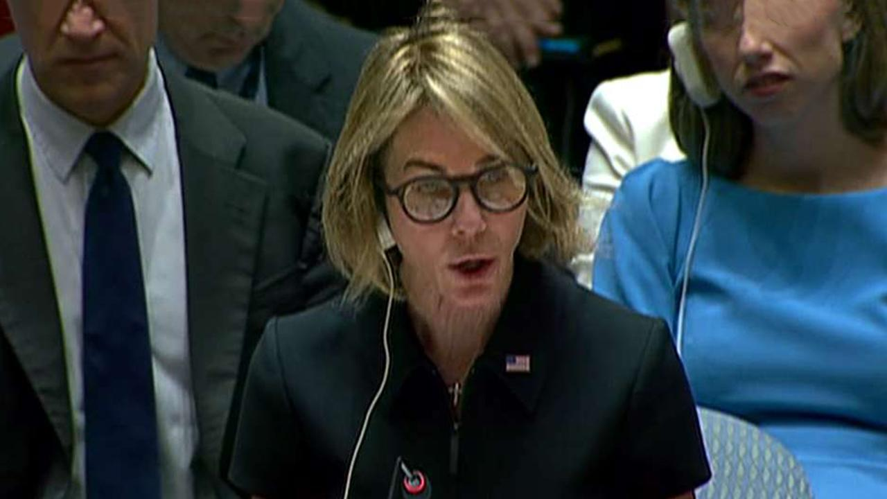 UN Ambassador Kelly Craft takes her seat