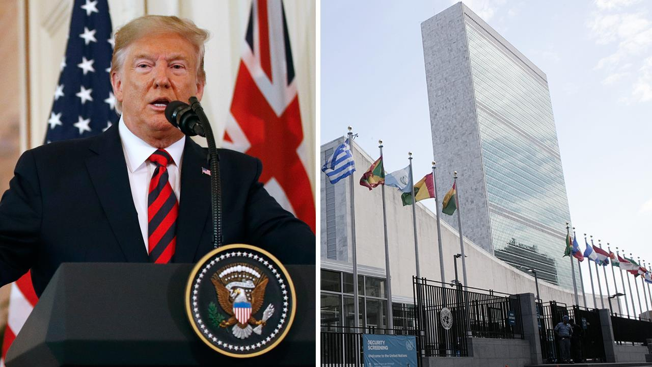What should President Trump say on the matter of religious freedom while addressing the UN General Assembly?