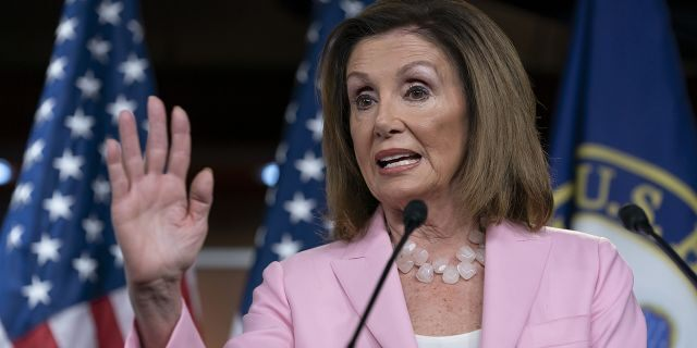 House Speaker Nancy Pelosi, D-Calif., suggested strongly on Sunday that she was considering pushing to impeach the president if certain demands related to the whistleblower were not met. (AP Photo/J. Scott Applewhite, File)