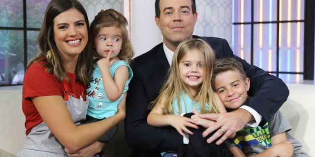 TODAY -- Pictured: (l-r) Siri Daly, London Rose, Carson Daly, Etta Jones, and Jackson James on Thursday, June 8, 2017 -- (Photo by: Zach Pagano/NBC/NBCU Photo Bank via Getty Images)