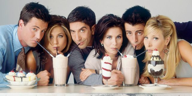The cast of the '90s comedy series, 'Friends.'