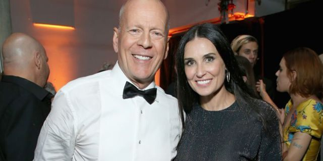 Bruce Willis and Demi Moore attend the after party for the Comedy Central Roast of Bruce Willis last year. (Photo by Phil Faraone/VMN18/Getty Images For Comedy Central)