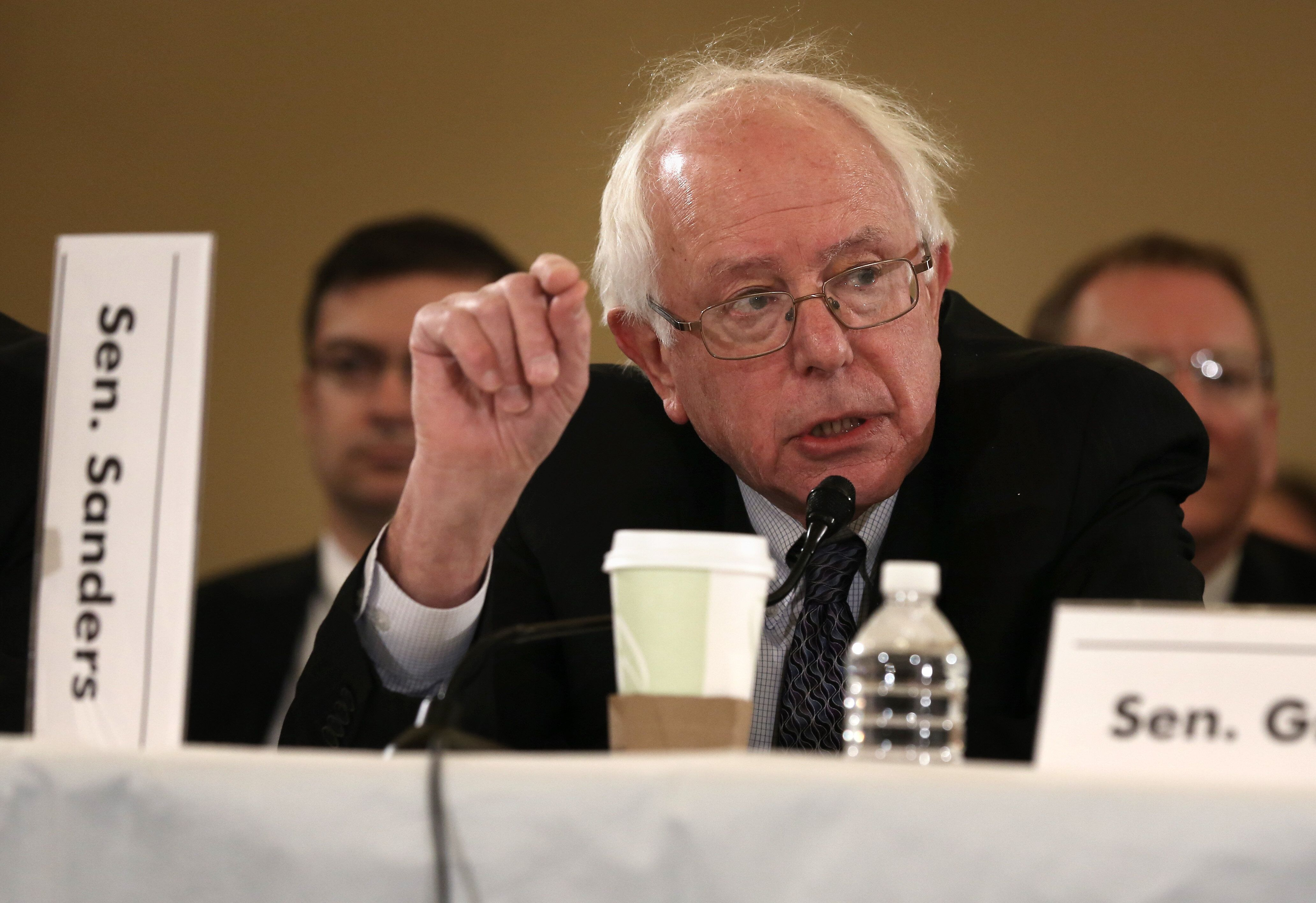Sanders, seen here at a budget conference in Nov. 2013, introduced a single-payer health care bill that year that receiv