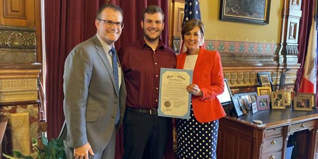 """Saturday, Sept. 28, 2019, is """"Carson King Day"""" in Iowa.(Office of the Governor of Iowa)"""