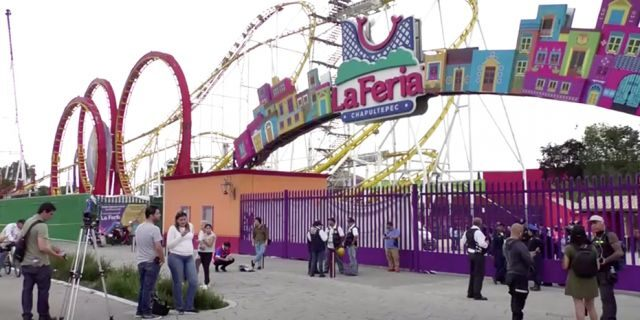 A general view of an amusement park where rollercoaster accident happened, in Mexico City, Mexico, September 28, 2019 in this still image taken from a video.