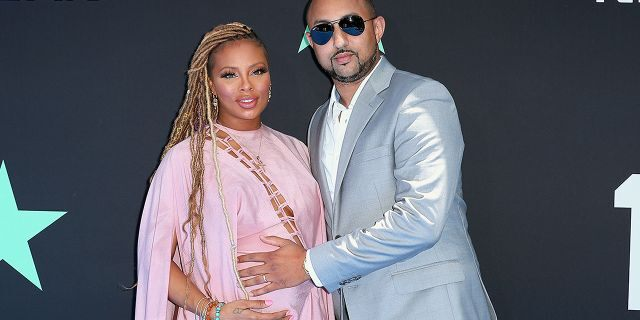 Eva Marcille and Michael Sterling attend the BET Awards on June 23, 2019 in Los Angeles.