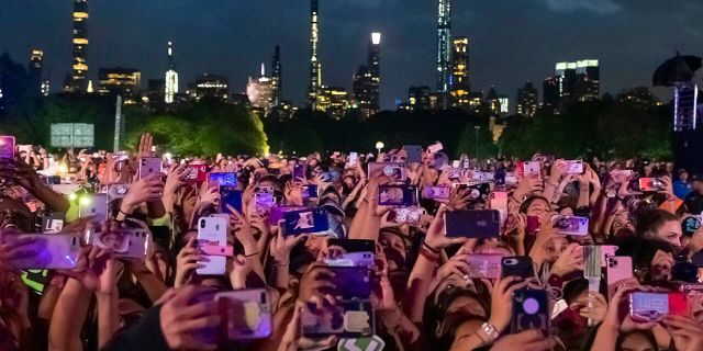 The crowd is seen at the 2019 Global Citizen Festival in Central Park on Saturday, Sept. 28, 2019, in New York.