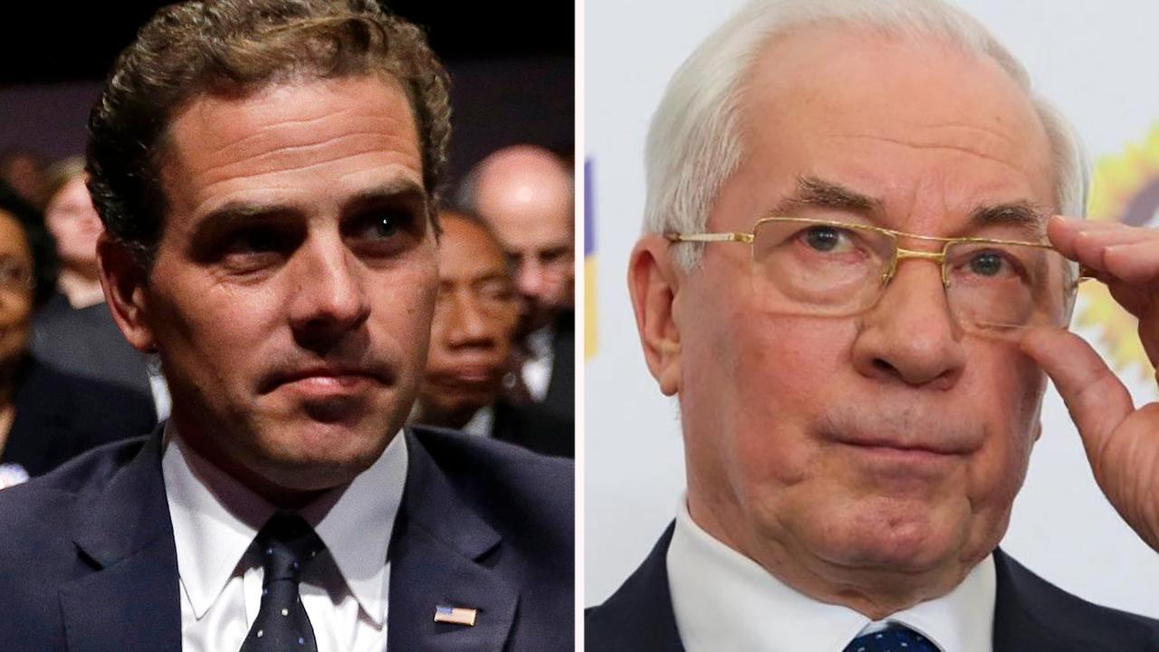 Ukraine's former prime minister says Hunter Biden must be investigated
