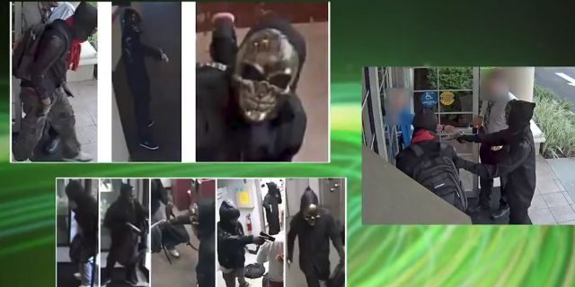 """The """"Ghost Mask Armed Robbers"""" had been sought in connection with the incidents at banks in Florida last month."""