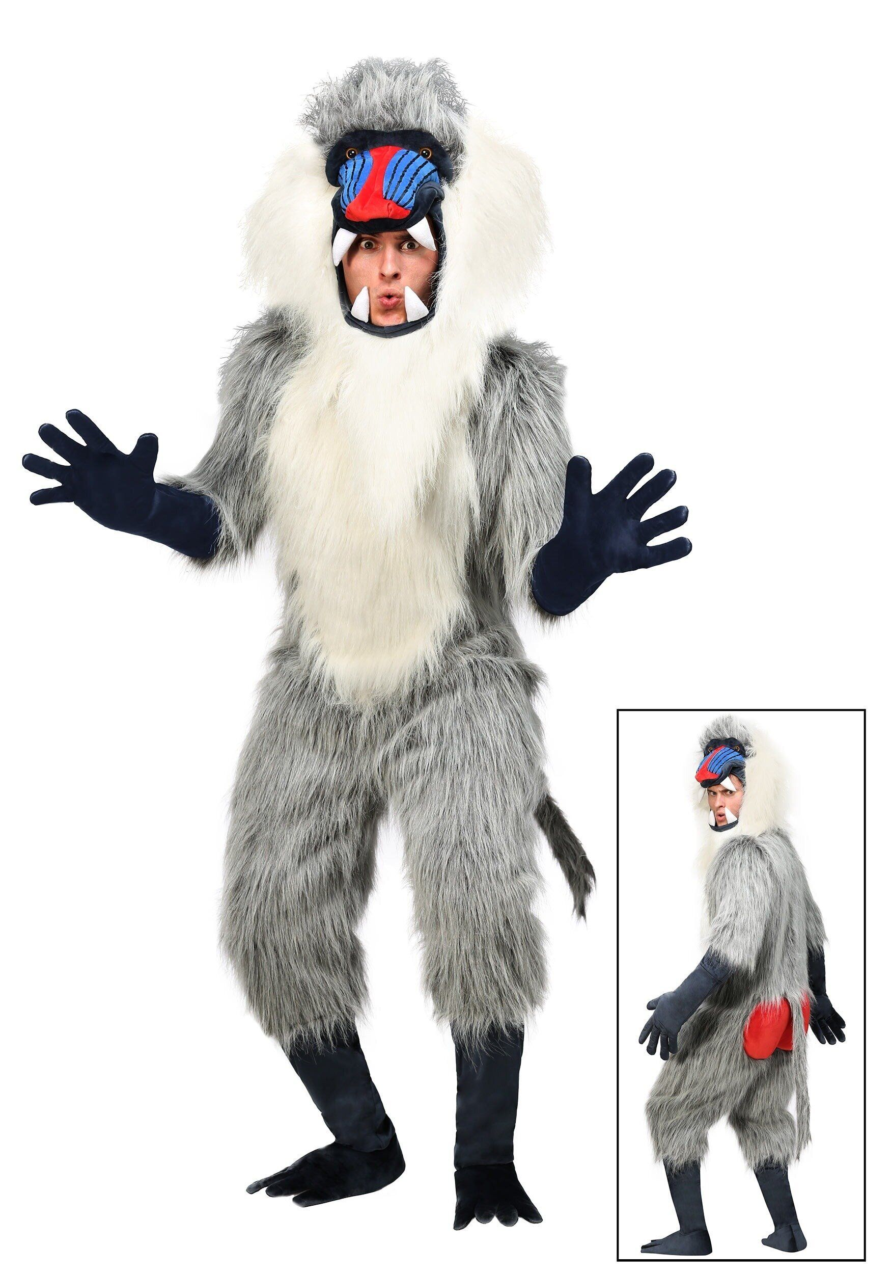 "The other party guests are sure to go ape when you show up <a href=""https://www.halloweencostumes.com/adult-baboon-costume.ht"