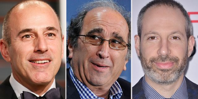 Matt Lauer, Andy Lack and Noah Oppenheim.