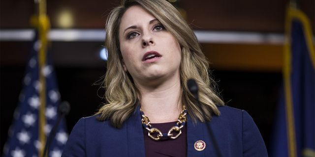 Rep. Katie Hill, seen here in April, denied she was having an affair with her legislative director. (Zach Gibson/Getty Images, File)