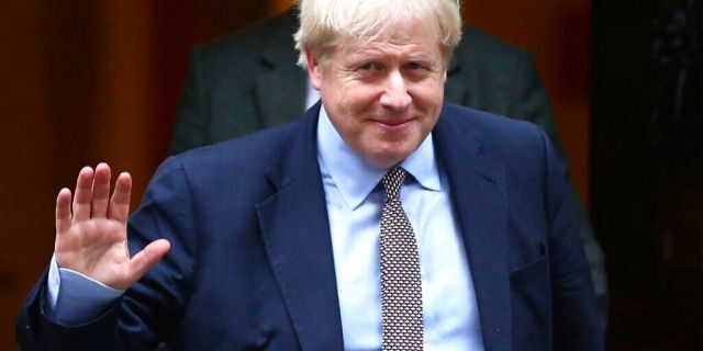 Britain's Prime Minister Boris Johnson leaves 10 Downing Street, on his way to parliament in London, Thursday October 24, 2019. Johnson has announced Thursday that he wants a General Election.