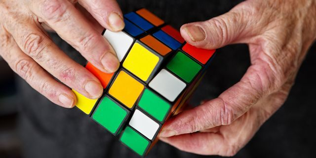 It took Rubik over a month to solve the first cube he built, according to Rubik's website.
