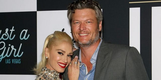 "Gwen Stefani and Blake Shelton attend the grand opening of the ""Gwen Stefani - Just a Girl"" residency at Planet Hollywood Resort and Casino."