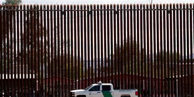 A new section of the border wall with Mexico in El Centro, Calif. (AP Photo/Jacquelyn Martin, File)