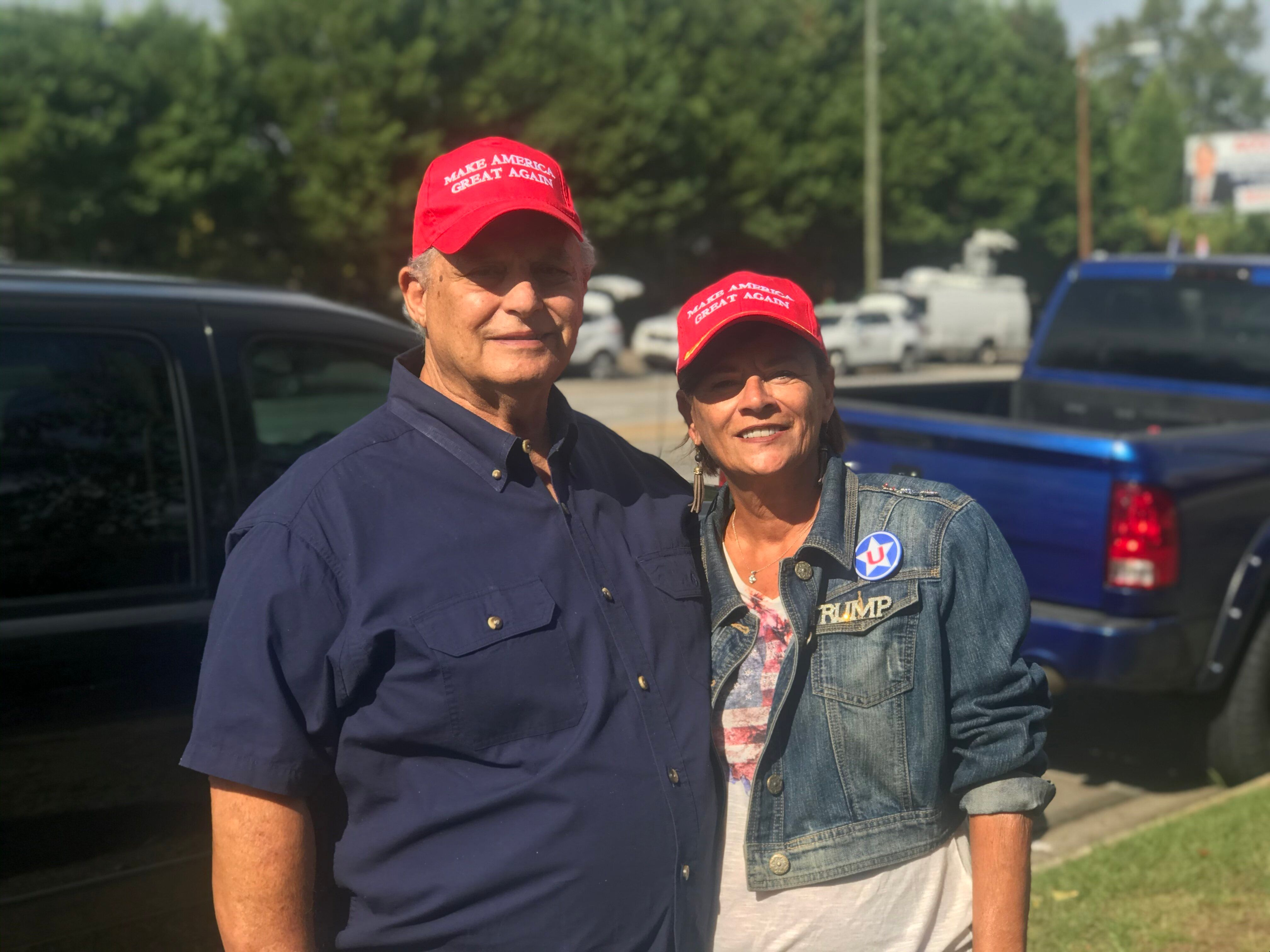 Danny and Cheryl Jackson attended Trump's criminal justice speech at Benedict College.