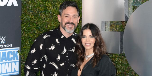 Jenna Dewan and Steve Kazee attend WWE 20th Anniversary Celebration marking premiere of WWE Friday Night SmackDown on FOX.