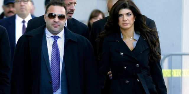 Joe, left, and Teresa Giudice, right, during their tumultuous legal battles.