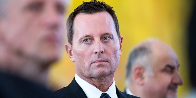 """""""Threatening the destruction of Israel is something that should not be dismissed, especially when the threats come from Iranian regime officials who regularly use terrorism as a weapon of intimidation. When someone shows you who they are, believe them,"""" Richard Grenell (pictured), the U.S. ambassador to Germany, said"""