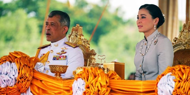 Thailand's King Maha Vajiralongkorn and Queen Suthida attend the annual Royal Ploughing Ceremony in central Bangkok, Thailand, May 9, 2019.
