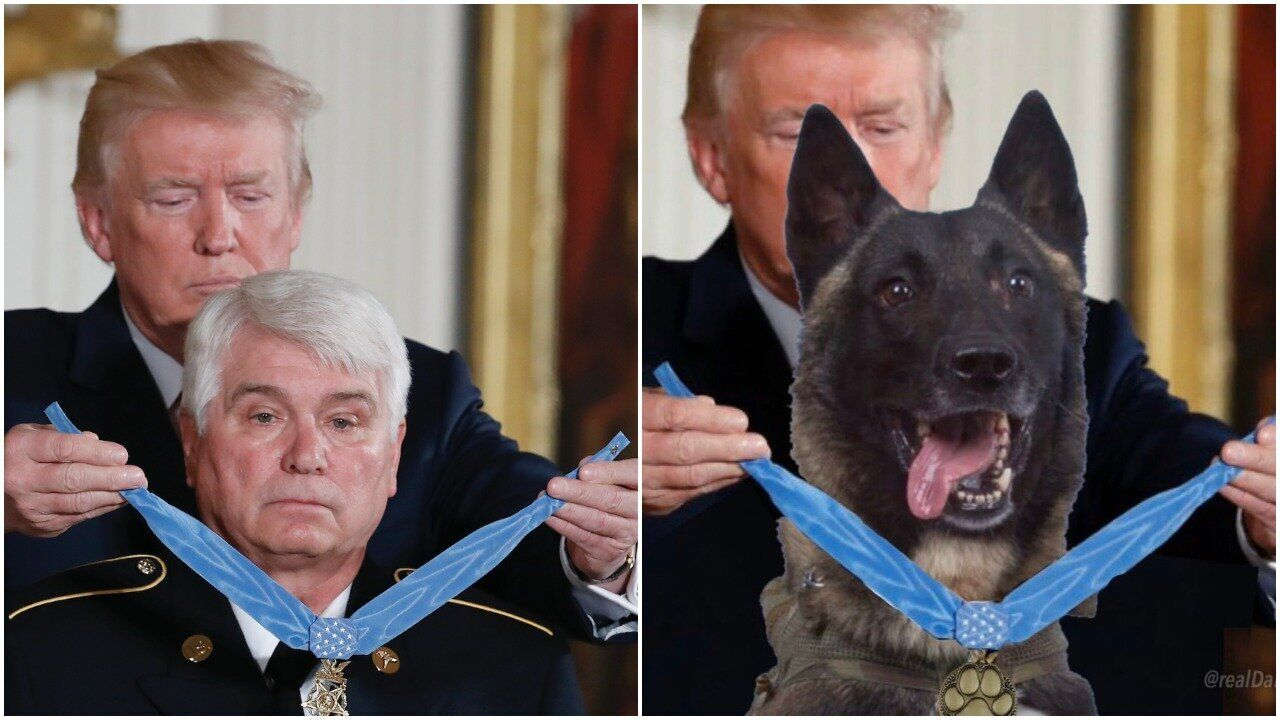 James McCloughan, left, received a Medal of Honor for his service during the Vietnam War.