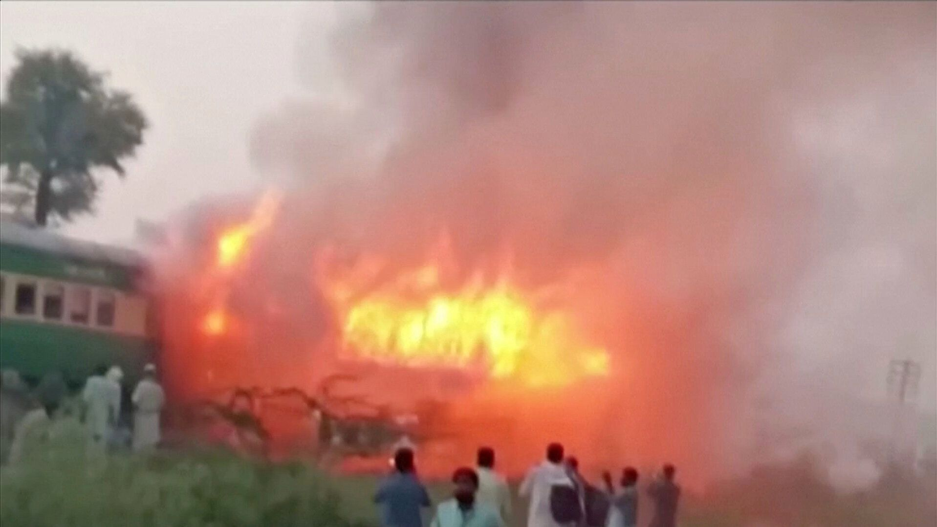 Dozens of passengers perished in the blaze.