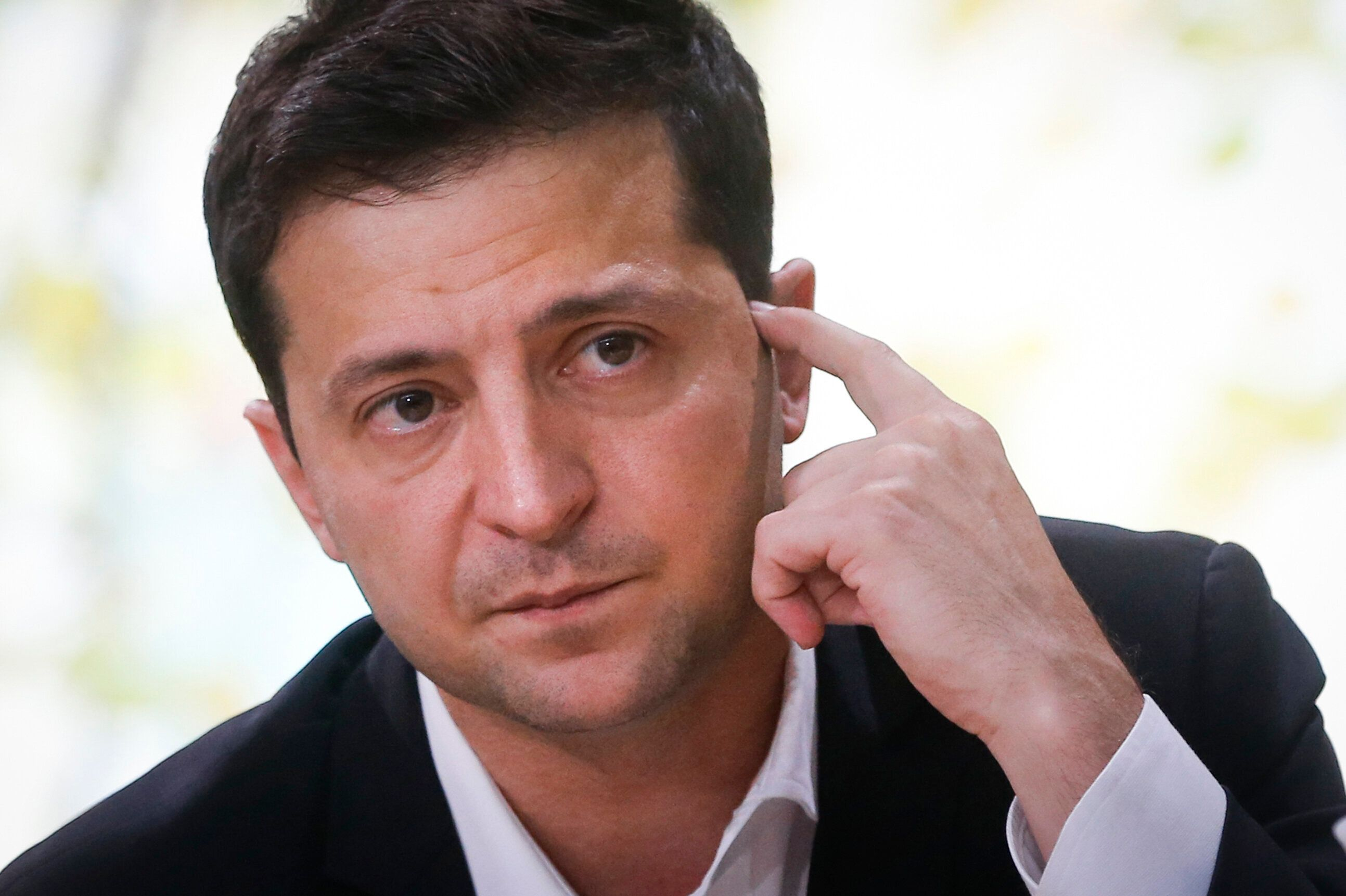"""Ukrainian President Volodymyr Zelensky gave an all-day """"press marathon"""" on Oct. 19 in Kyiv amid growing questions about his a"""