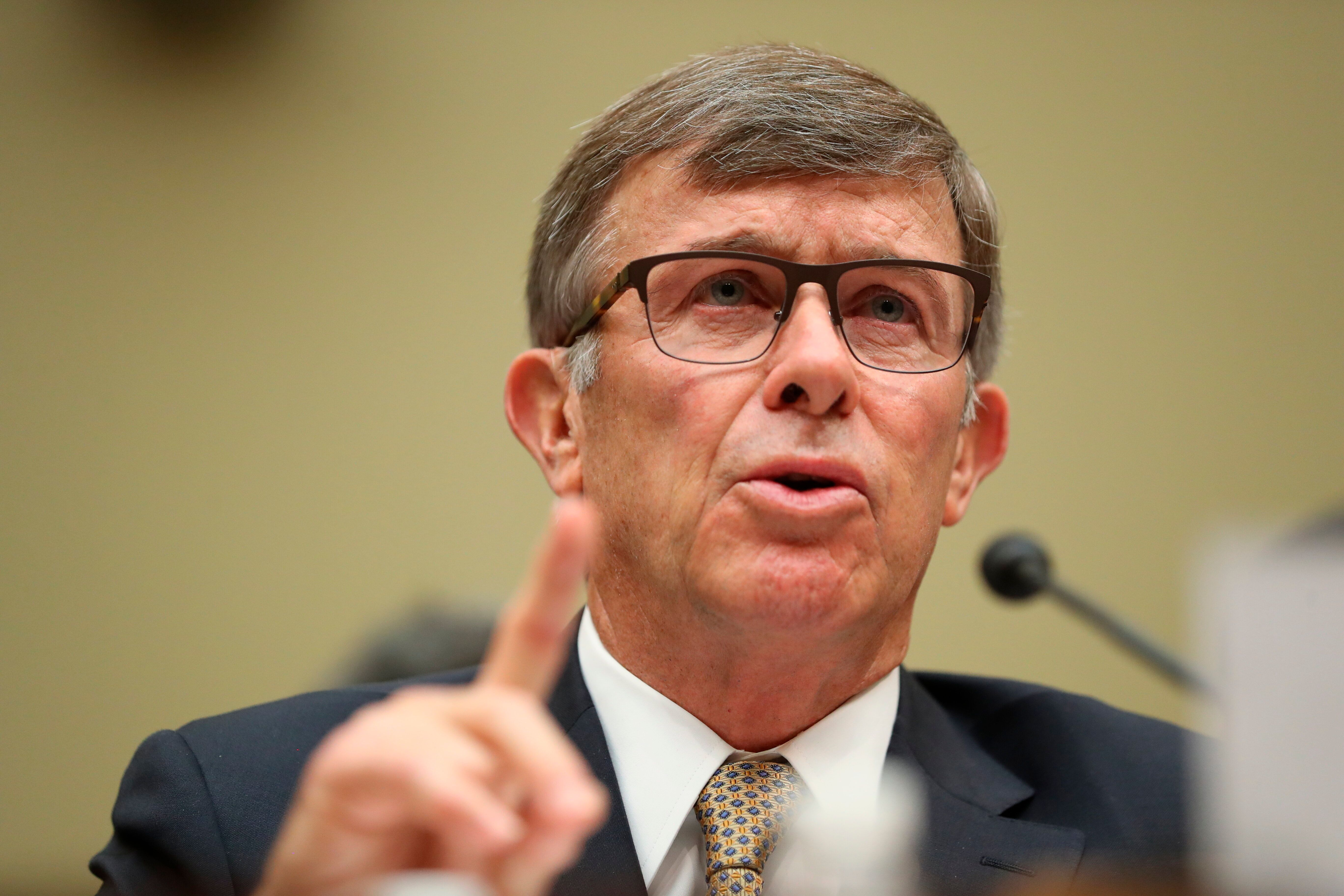 Acting Director of National Intelligence Joseph Maguire testifies before the House Intelligence Committee on Sept. 26.