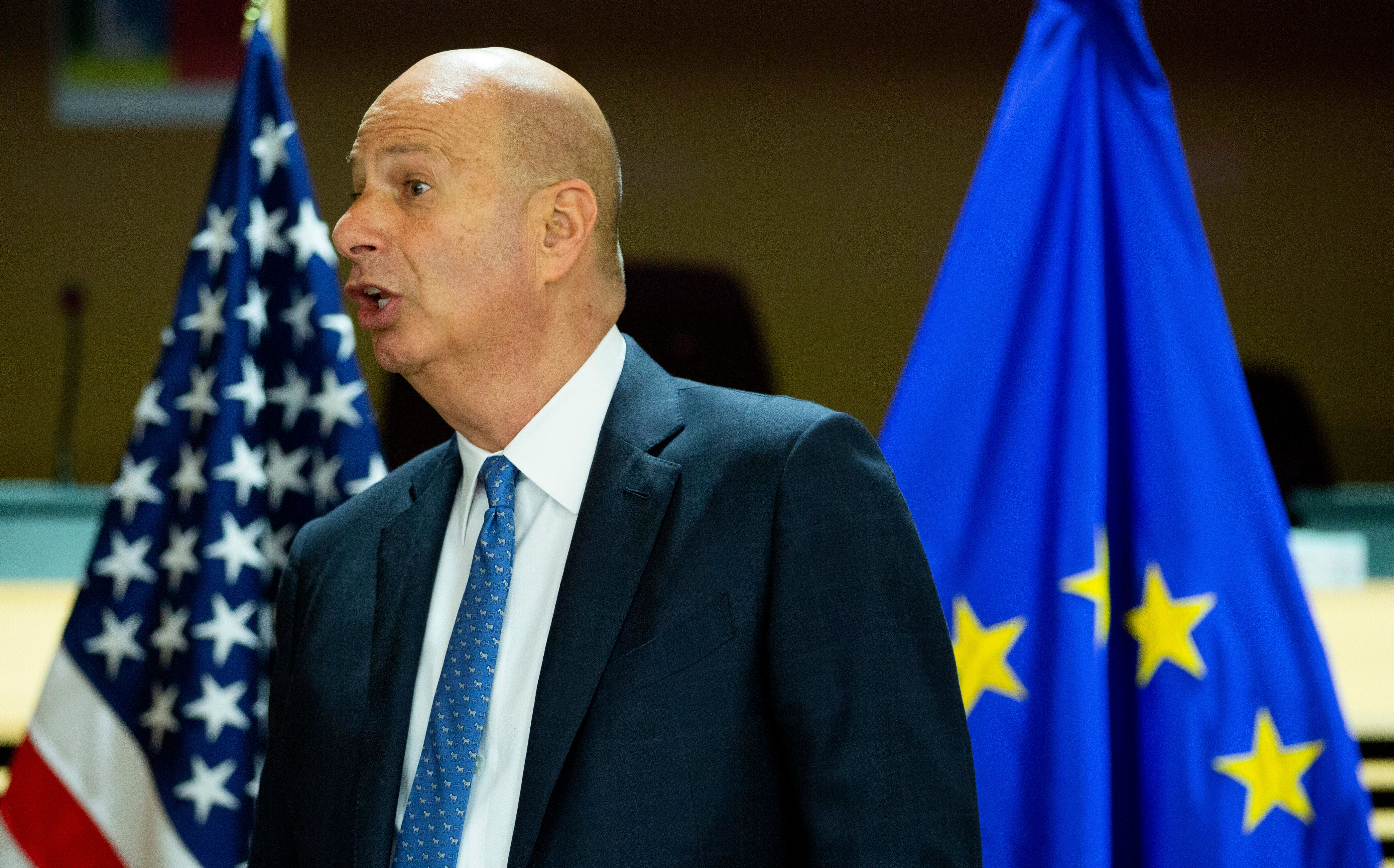 U.S. Ambassador to the European Union Gordon Sondland, here at a forum in Brussels on Oct. 21, has reportedly agreed to testi