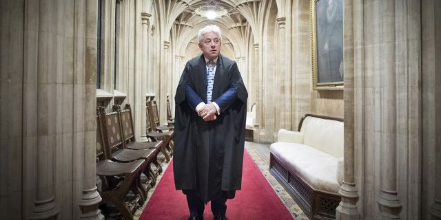 March 12, 2019: Speaker of the House of Commons John Bercow going through his daily routine of preparing to preside over the day's events in the chamber. On Thursday Oct. 31, 2019, he is stepping down after 10 years in the job.