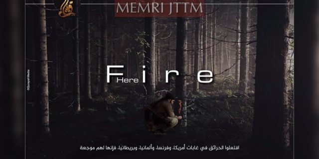 """An pro-ISIS media outlet has been releasing propaganda posters encouraging followers to """"ignite fires"""" of their own in the U.S. and Europe."""