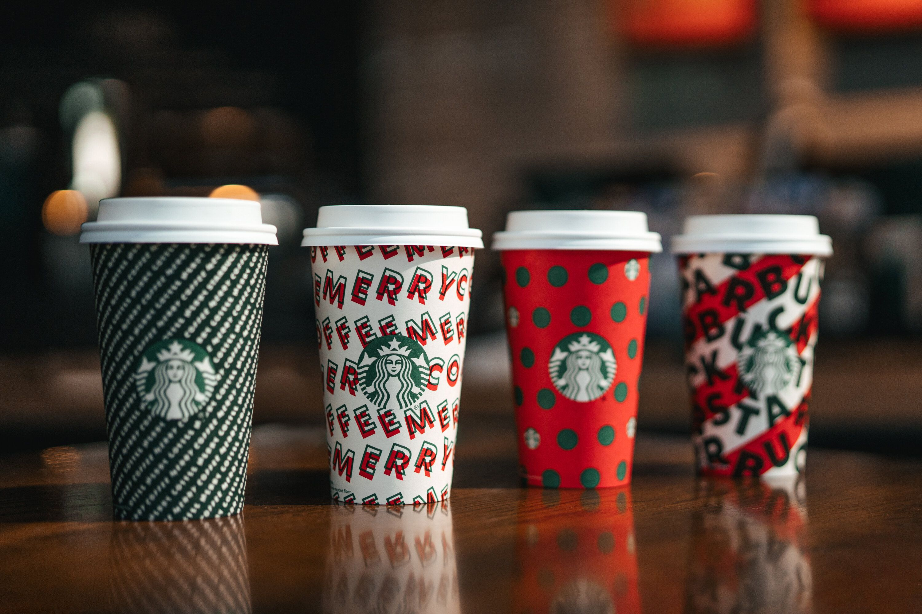 """This year's Starbucks holiday cups wish customers a """"merry coffee."""""""