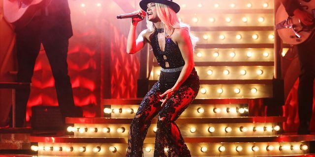 Carrie Underwood performs onstage during the 53rd annual CMA Awards at the Bridgestone Arena on November 13, 2019 in Nashville, Tennessee. (Photo by Terry Wyatt/Getty Images,)