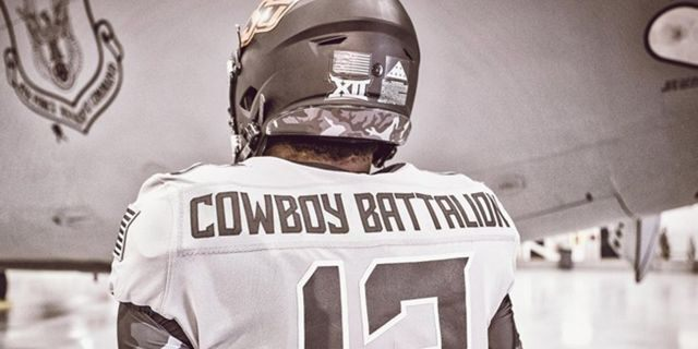 "During the contest on Saturday, the names on the back of their jerseys will be replaced by the words ""Cowboy Battalion"" with the goal of having the player's names take a backseat to the base call-outs on the nameplate"