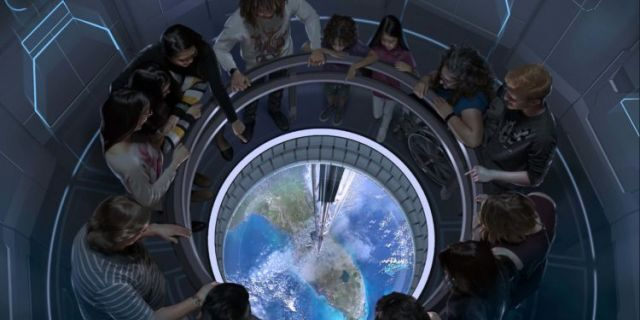 """Space 220 hopes to give guests the sensation of dining """"220 miles above the Earth's surface."""""""