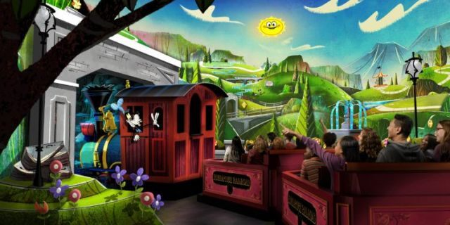 """""""Mouse rules"""" reign supreme at the Mickey & Minnie Runaway Railway, WDW News said."""
