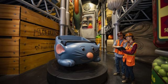 """Remy's Ratatouille Adventure will open in Epcot's France pavilion next summer, offering a """"super-sized adventure with Chef Remy through Gusteau's restaurant."""""""