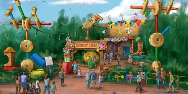 """The Roundup Rodeo BBQ will join the fun at Toy Story Land in 2020 (date yet to be announced,) offering a family-friendly setting to enjoy a meal amid Andy's iconic """"larger-than-life"""" toys and games."""