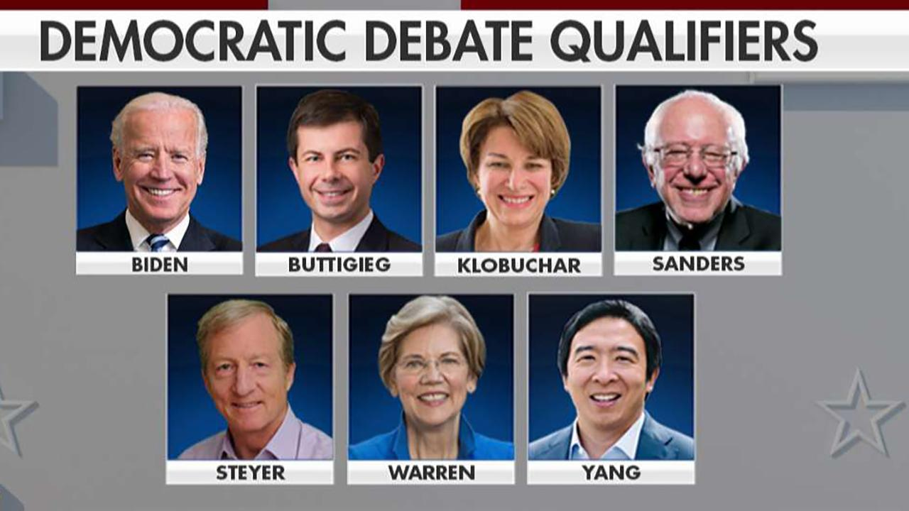 Only 7 candidates have qualified for next Democratic debate
