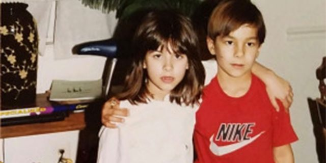Angie and Michael as children.