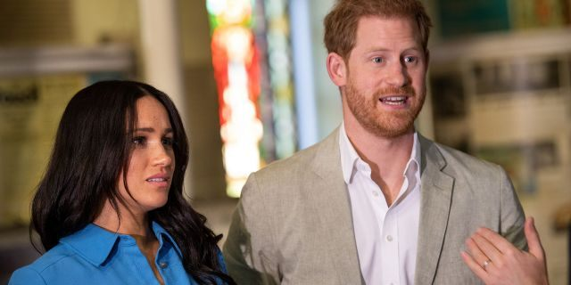 Meghan Markle, Duchess of Sussex and Prince Harry, Duke of Sussex visit District 6 Museum on Sep. 23, 2019 in Cape Town, South Africa.