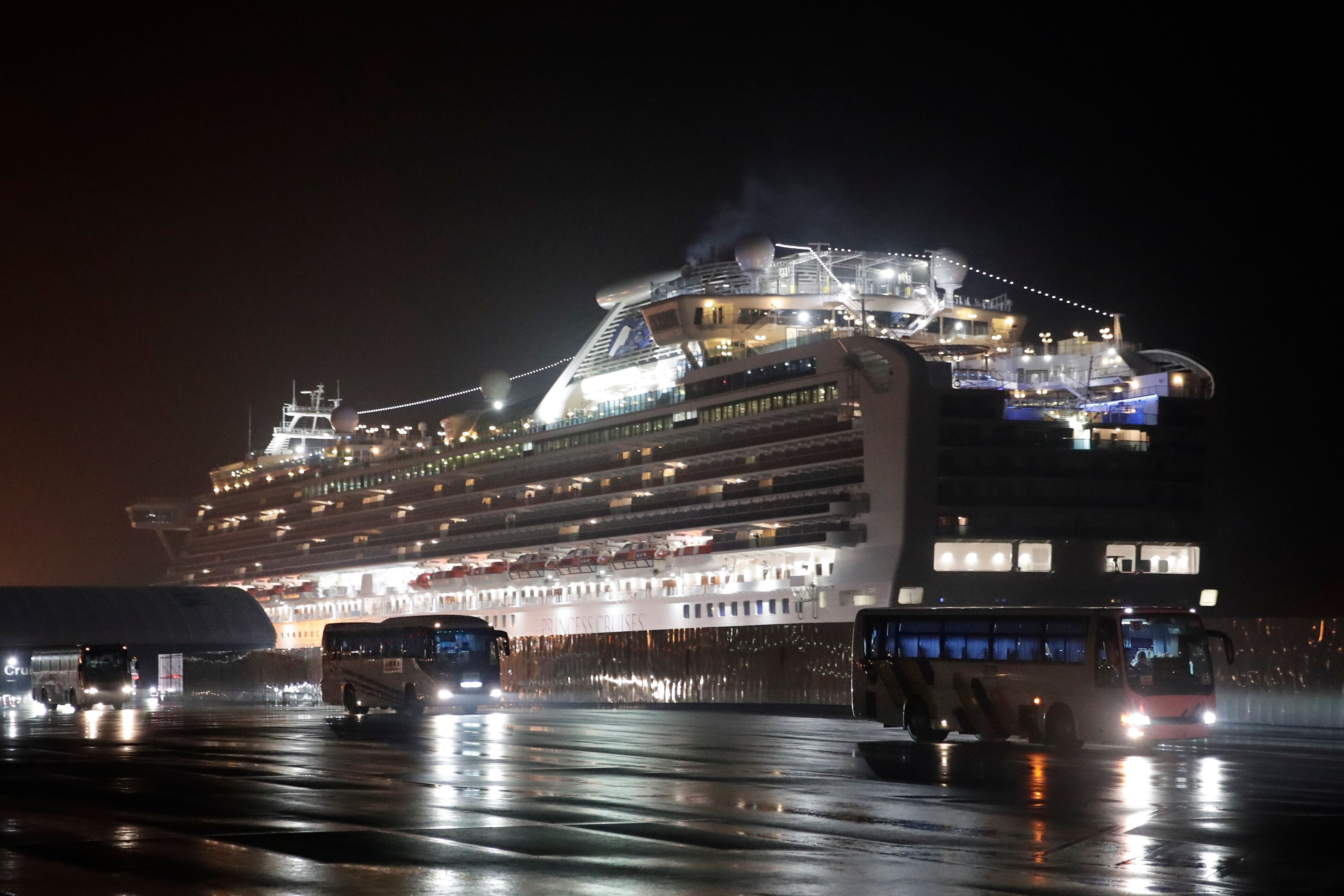 Several dozen Americans are among the 355 people who have become infected with the coronavirus while on the Diamond Princess