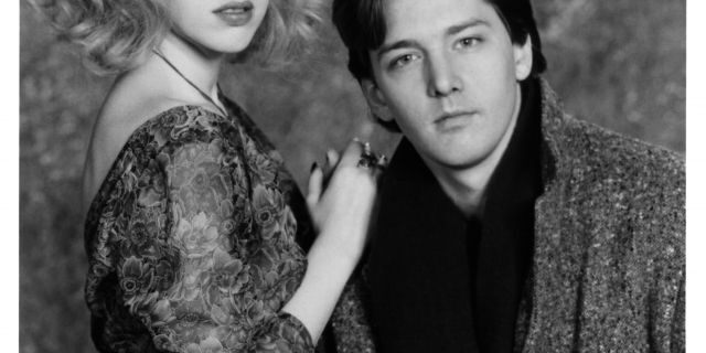 "Actress Molly Ringwald and actor Andrew McCarthy pose for the movie "" Fresh Horses "", circa 1988."