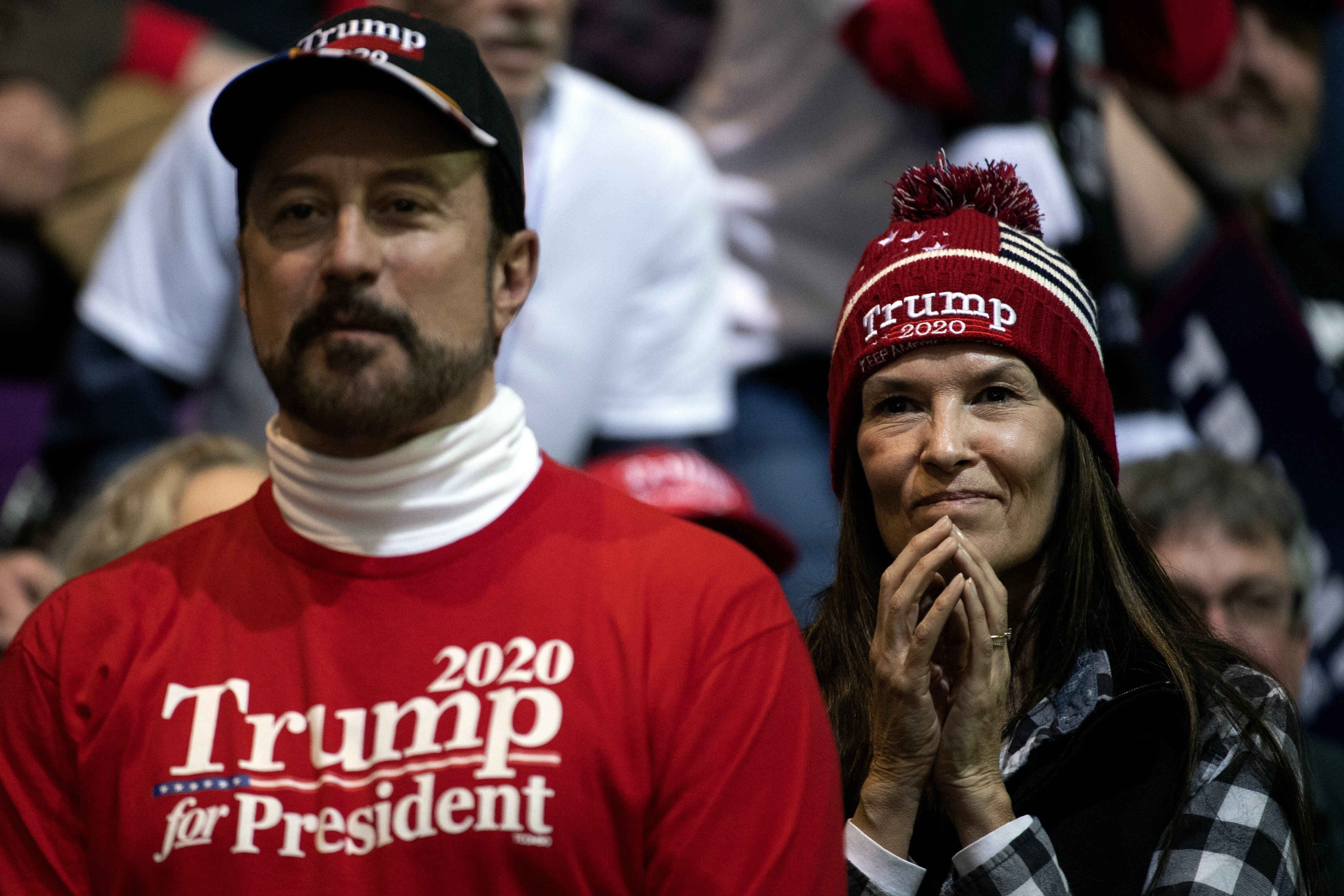 Trump supporters attend a campaign rally for the president in Colorado Springs.