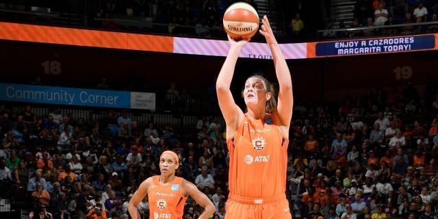 """Theresa Plaisance was battling an """"unknown virus"""" while playing in China. (Photo by Brian Babineau/NBAE via Getty Images)"""