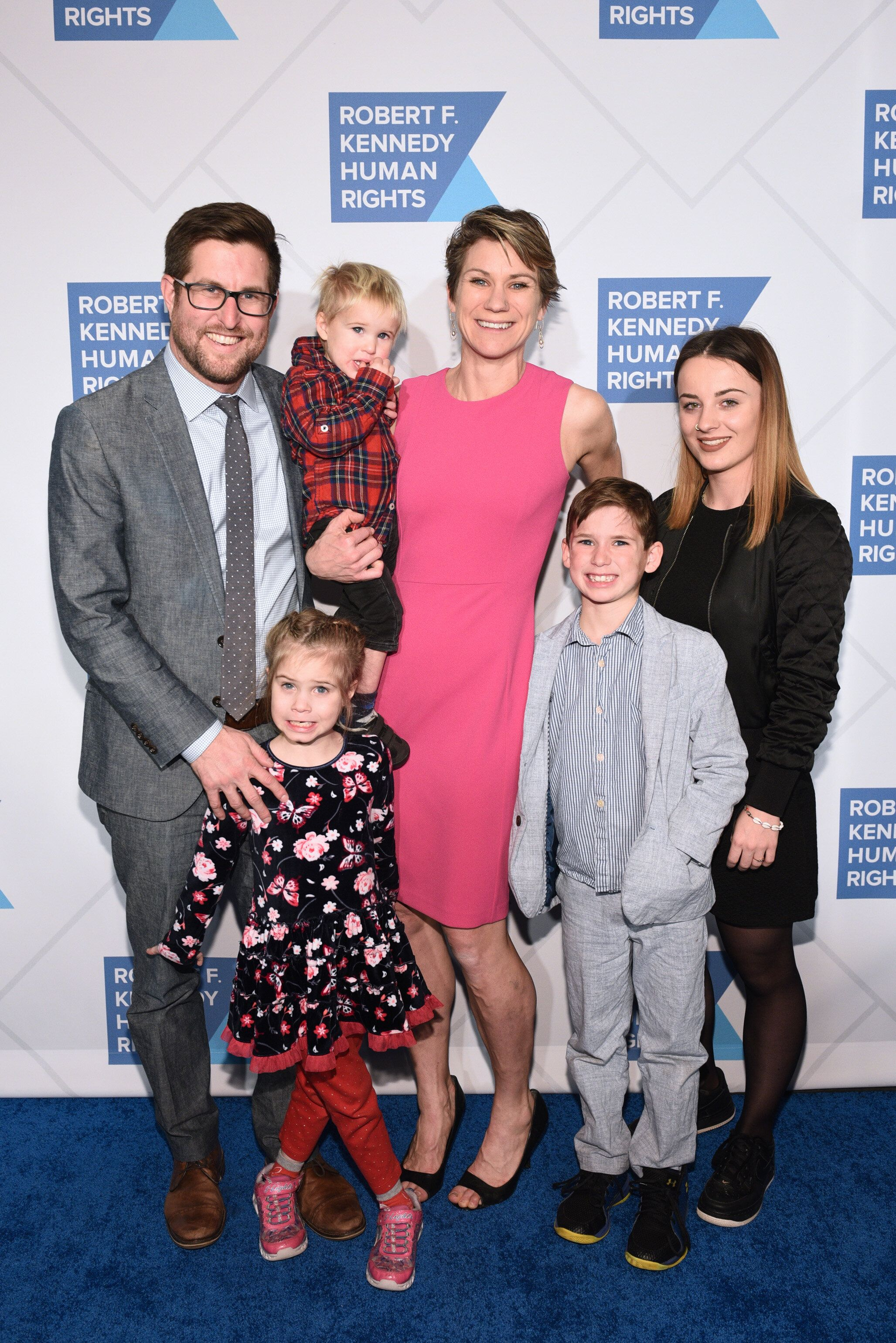 David McKean, Maeve Kennedy Townsend McKean and family at an event in New York City in December 2018.
