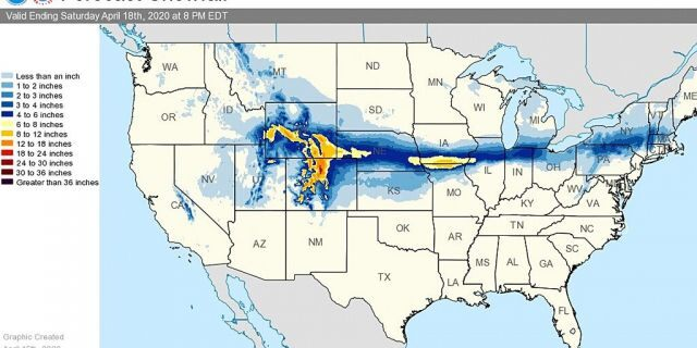 A narrow swatch of snow is forecast to bring impacts from the Rockies through the Northeast by Friday.